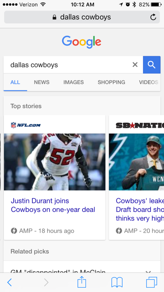 Accelerated Mobile Pages Google Results 2