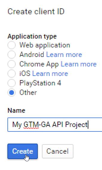 Google Tag Manager and Google Analytics API Authorization