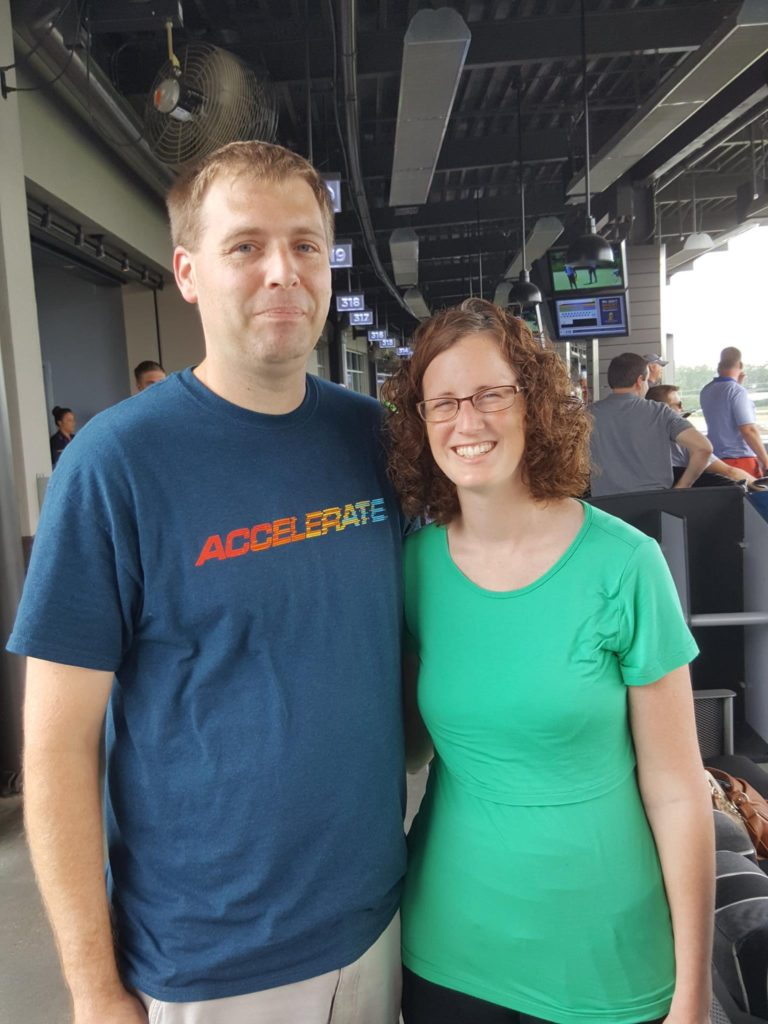 Andy & Mary at Top Golf