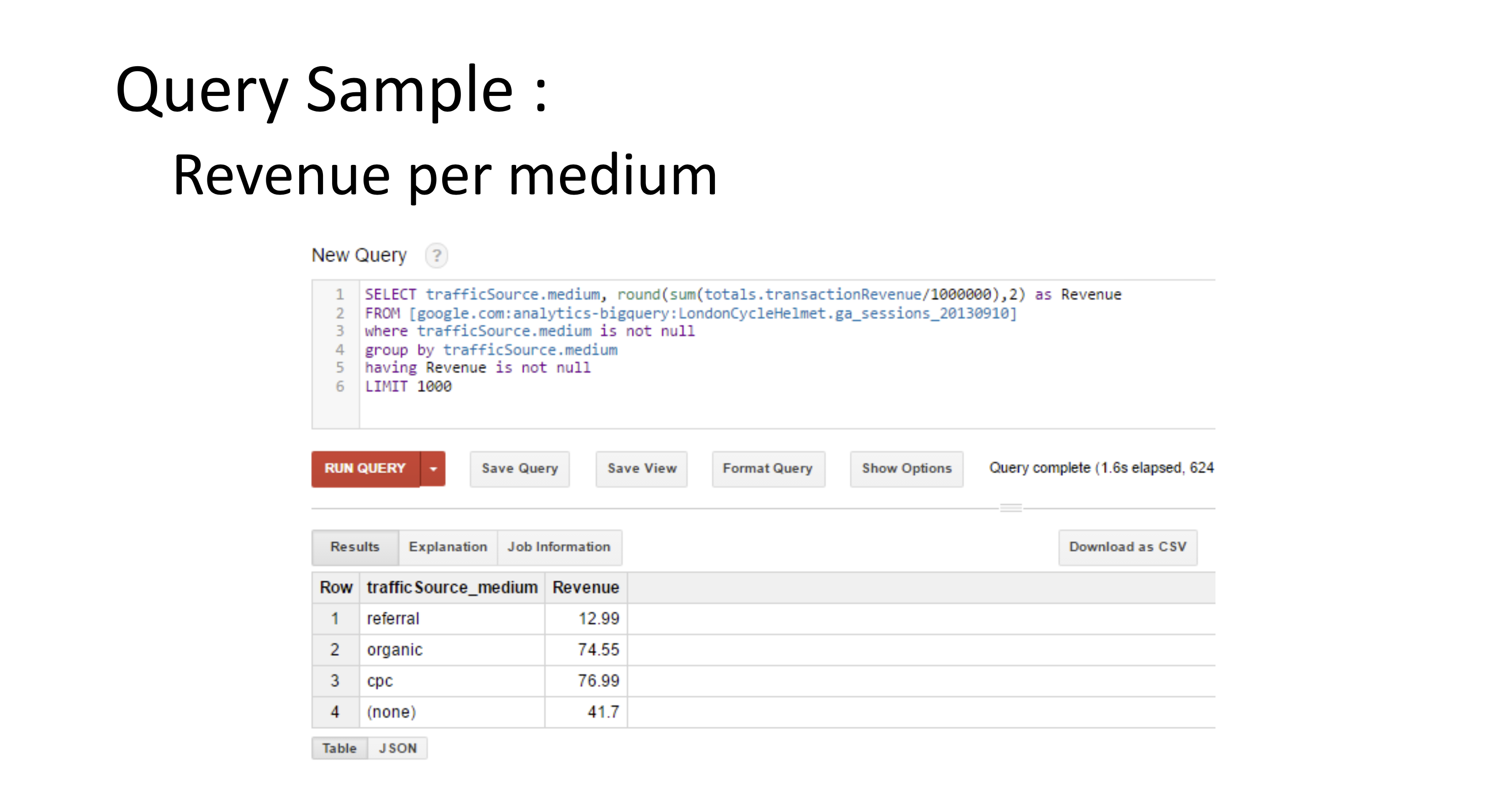 Webinar Wrap-Up: Big Query Basics
