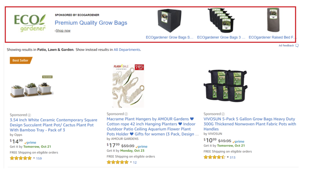 amazon sponsored products - headline search ads