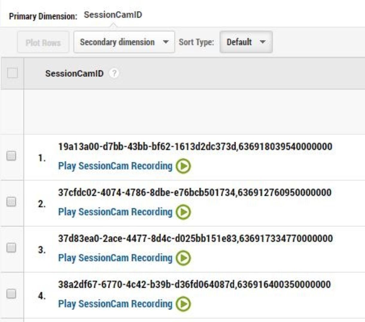 SessionCam Integrations