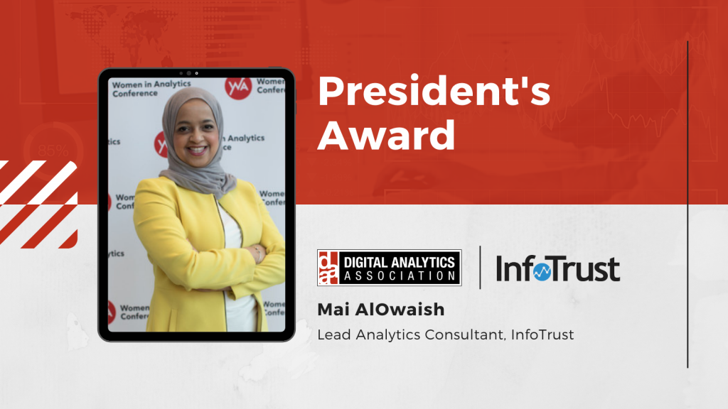 Lead Analytics Consultant Mai AlOwaish Honored with DAA President's Award