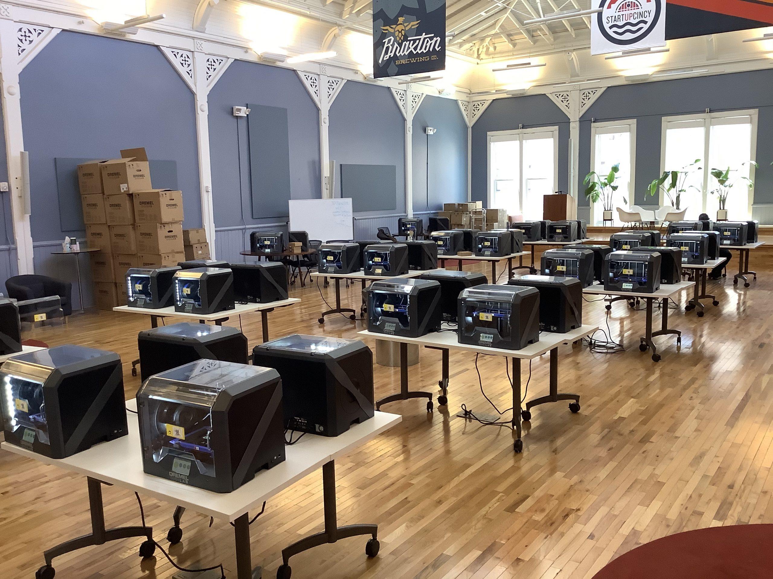 3D printers at Union Hall.