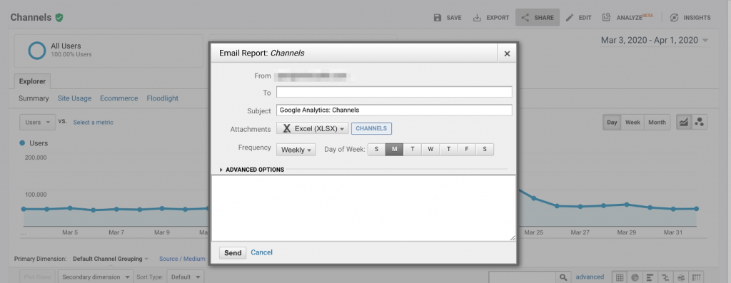 Emailed Reports Google Analytics