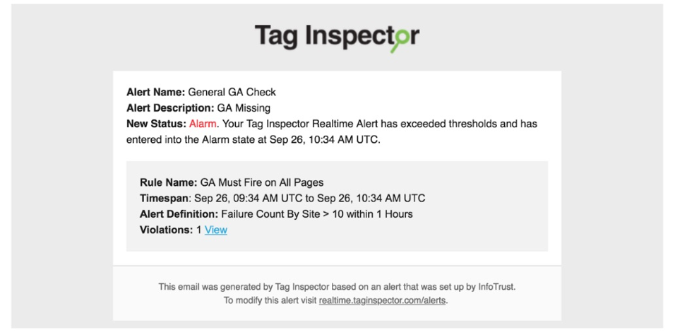 anomaly detection Tag Inspector