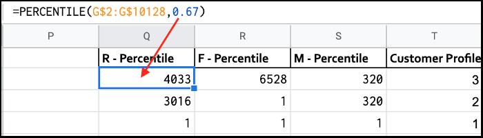 Create a Percentile