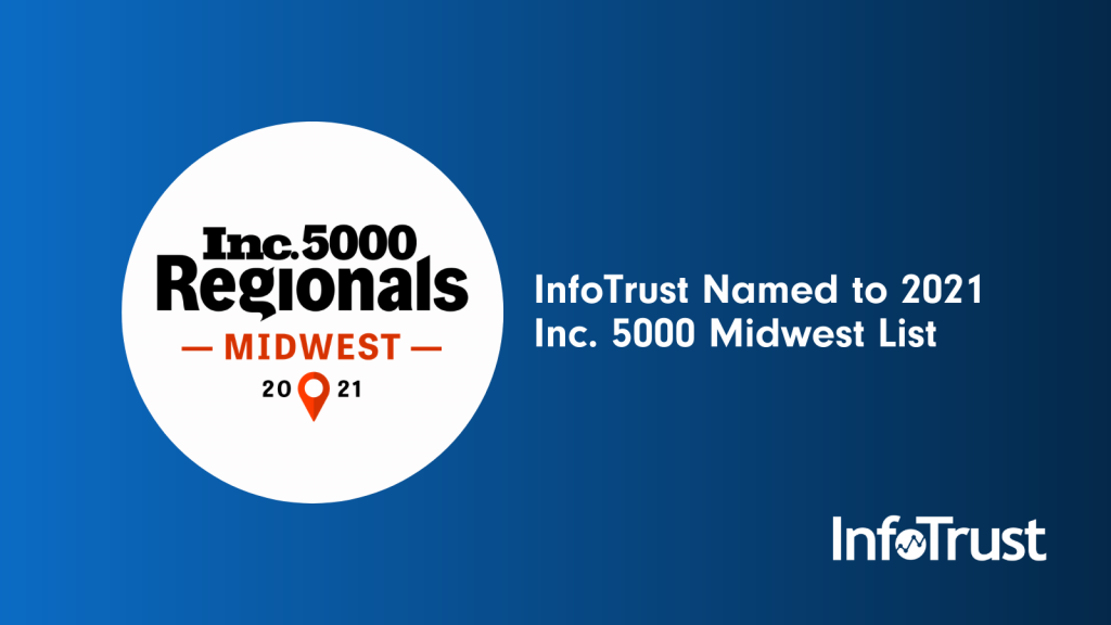 Inc 5000 Midwest winner 2021 InfoTrust